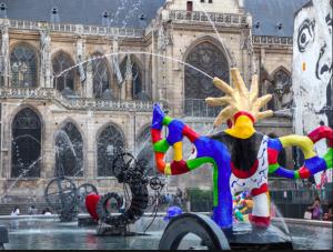 Stravinsky fountain Paris